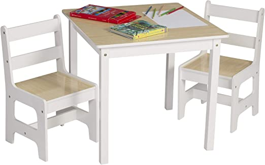 eSituro Mesa para Niños con 2 Sillas Grupo de Asientos y Escritorio para Niños Mesa Infantile con Silla para Bebé Mueble de Juegos 60x60x55cm MDF SCTS0005: Amazon.es: Hogar