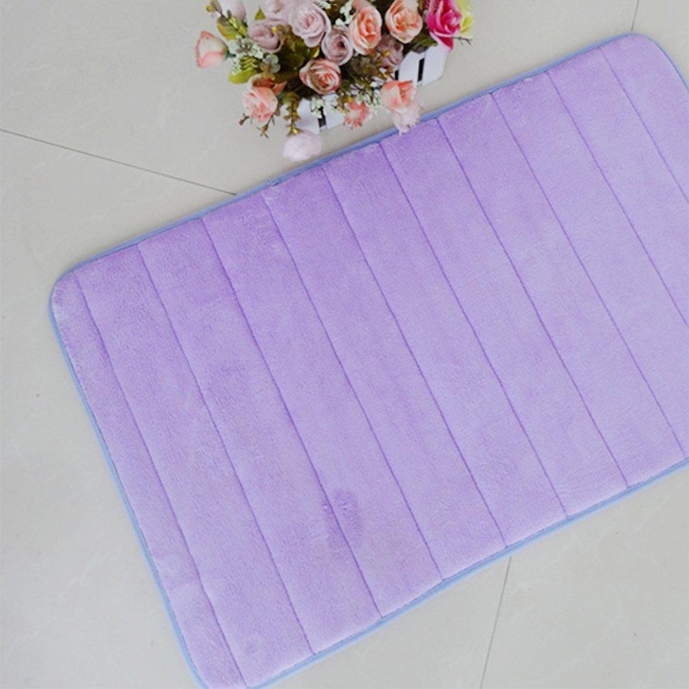 OUNONA Alfombra de ba/ño de espuma viscoel/ástica caf/é de terciopelo coral alfombra de ba/ño 30 x 50 cm muy acogedora