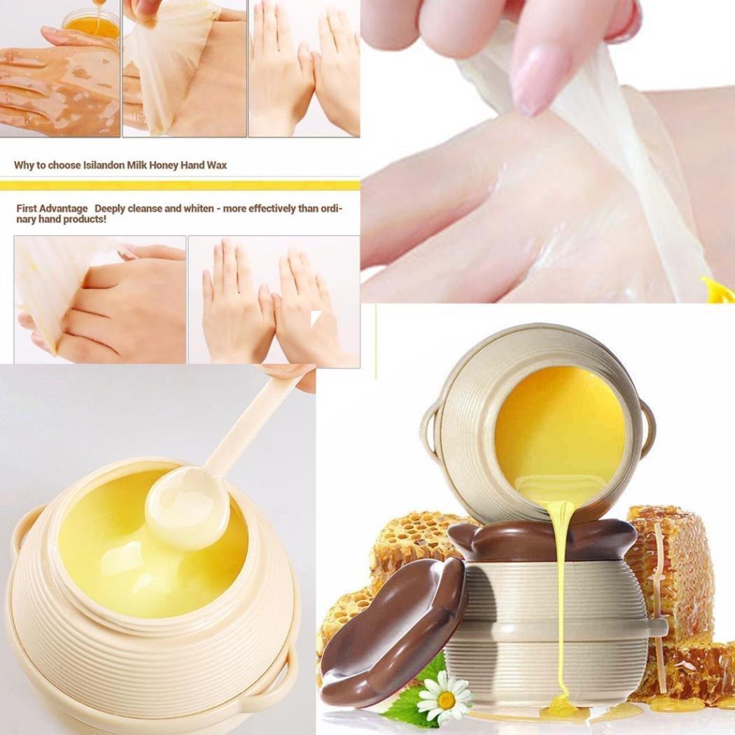 hunpta Milch Honig HAND Mask Paraffin Wachs Hand Care Feuchtigkeitsspendende Whitening Skin Care Peeling Schwielen Hand Film Hand Creme