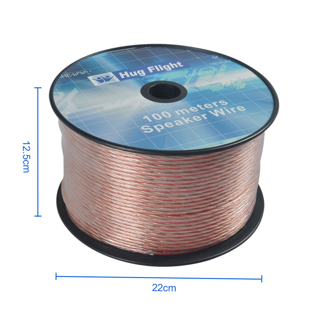 100m 2x 2.5mm Loud Speaker Genuine Free Oxygen OFC Cable Wire ...