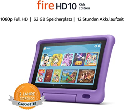 Fire Hd 10 Kids Edition Tablet 10 1 Zoll 1080p Full Hd Display 32 Gb Violette Kindgerechte Hülle Amazon Devices