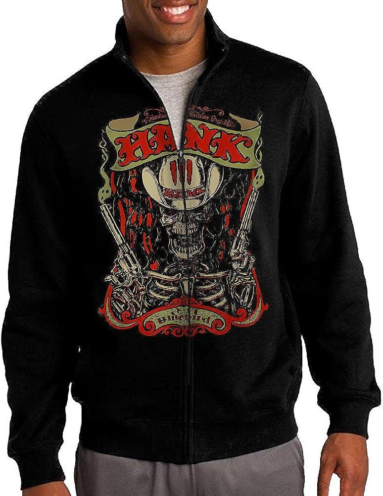 Hank Williams III Damn Right Rebel Proud Zip Sweatshirt Jacket for Men