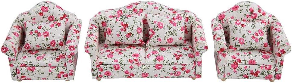 5 pezzi 1//12 scala cuscino cuscini per casa delle Bambole divano letto per sedia Accessori