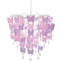 Easy Fit Universal Pink Butterflies Light Decoration Ceiling Lamp Chandelier Pendant