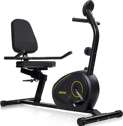 Merax: bicicleta estática reclinable magnética. Resistencia de 8 ...