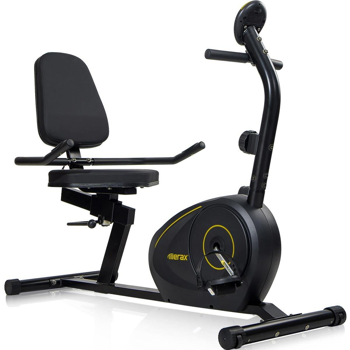 Merax Magnetic Recumbent Exercise Bike | 8-Level Resistance | Quick Adjust Seat (Black 2019) by Merax (Image #2)