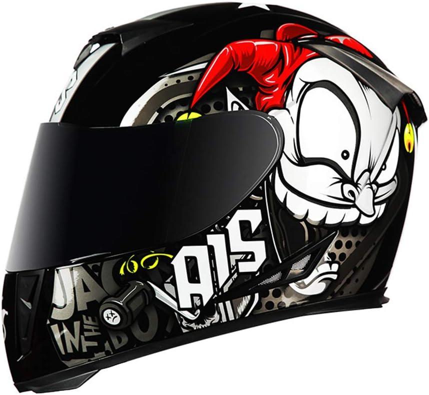 60-61cm MOPIK Casque Moto Modulable Double Visi/ère ECE Homologu/é Homme Femme Anti-bu/ée De Montagne Route De Motocross Casque Modulable Moto 01,XL