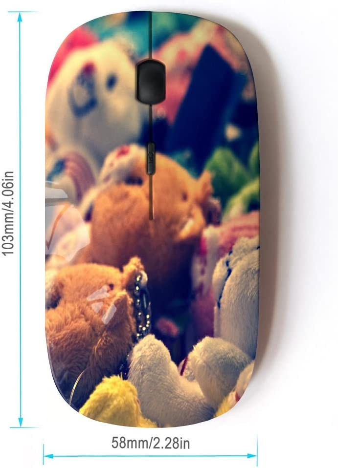 STPlus Cute Teddy Bear Toy 2.4 GHz Wireless Mouse with Ergonomic Design and Nano Receiver