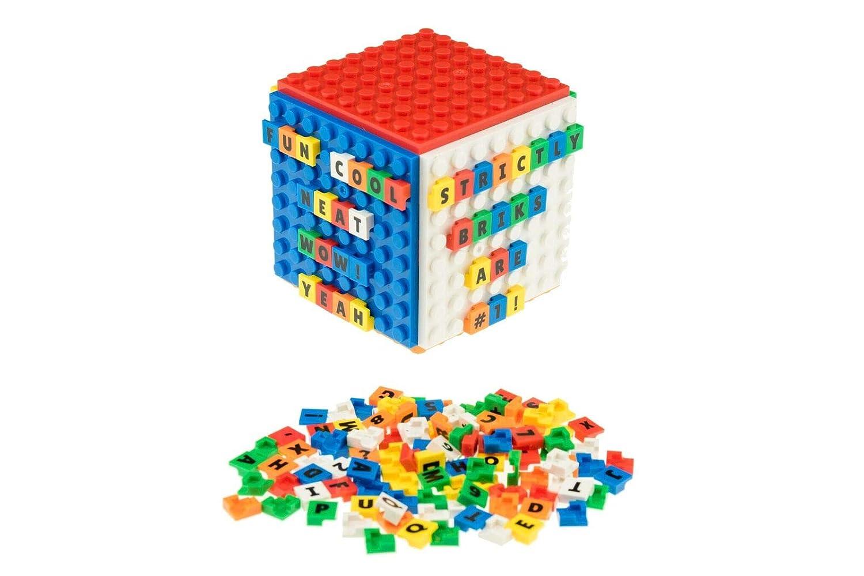 Strictly Briks Rubik' s Briks Cube | Mini-Lern-Set mit Wü rfel | 100 % kompatibel mit Allen fü hrenden Bausteinmarken | Mint-Lernspielzeug | offiziell lizenziert | 6 Grundplatten mit 150 Steinen