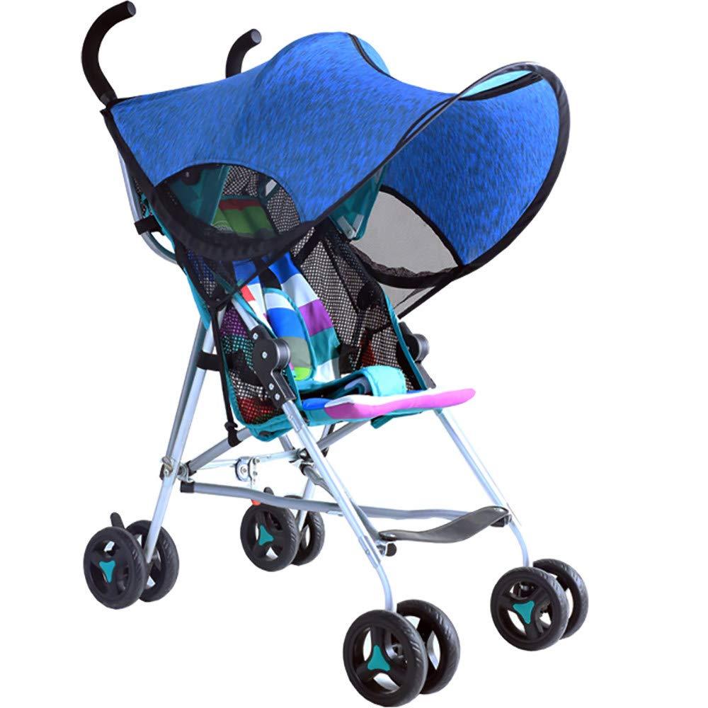 ACOMG Baby Stroller Sun Shade,Universal Baby Sun and Sleep Stroller Cover,2-in-1 Baby Stroller Mosquito Net&Sun Shade Canopy
