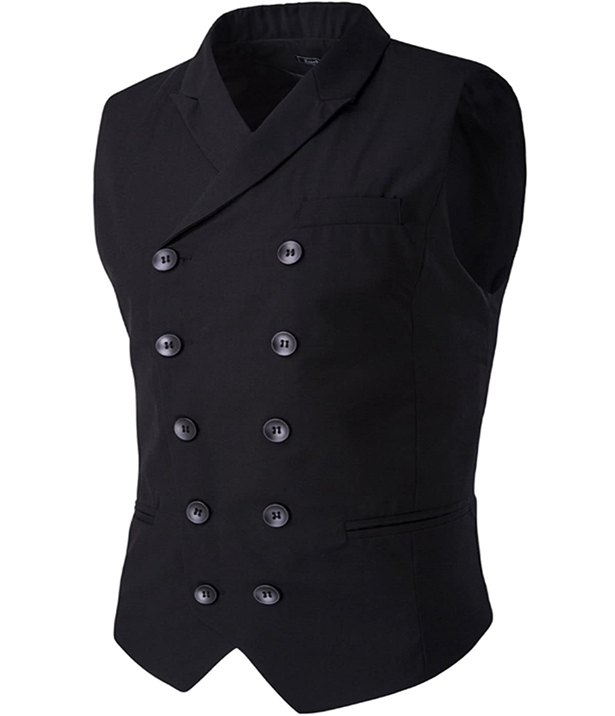 Men's Steampunk Jackets, Coats & Suits Cloudstyle Mens Vest Fashion Slim Fit Double-Breasted Solid Vest $24.99 AT vintagedancer.com
