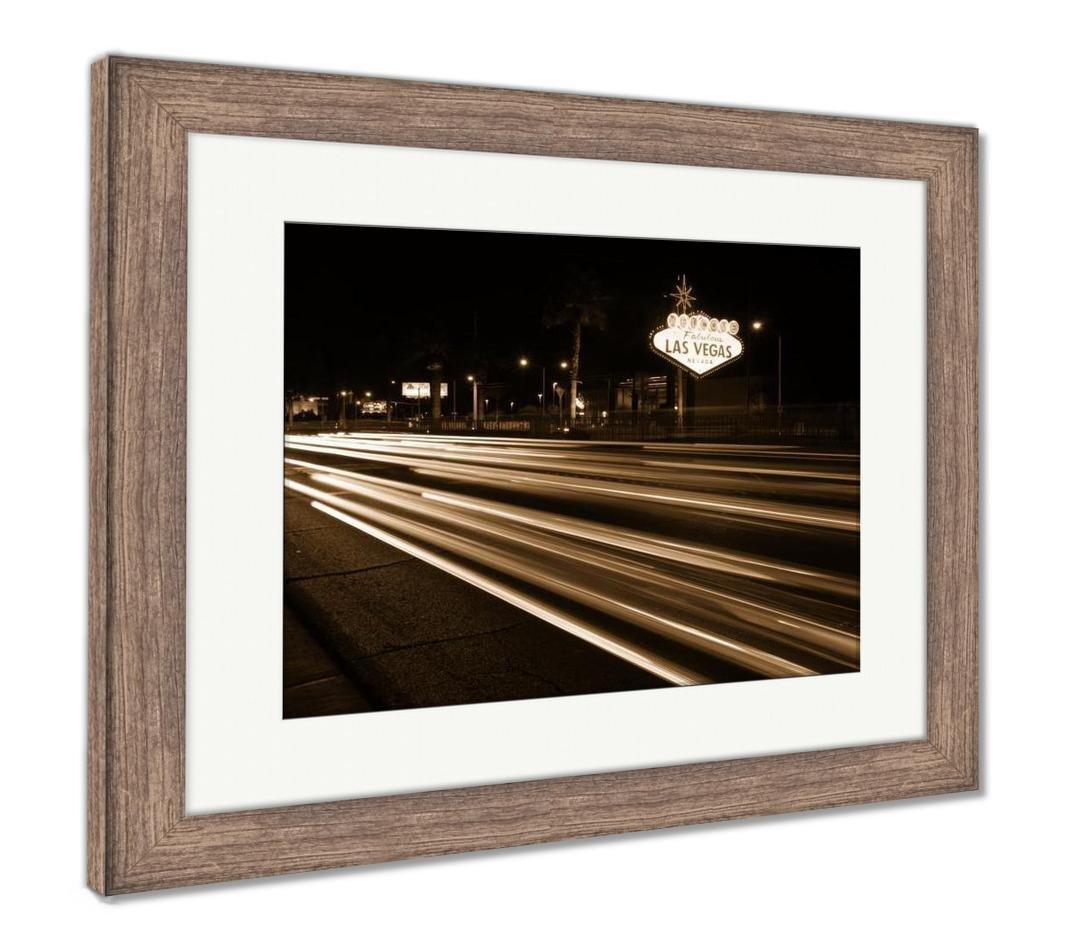 Amazon.com: Ashley Framed Prints Welcome To Las Vegas Sign Boulevard ...