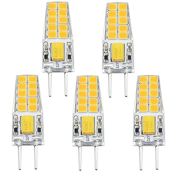 Bonlux 3W G6.35 LED Birne Bi-Pin Warmweiß 3000K AC/DC 12V 2-Stifte Glühlampe für Schreibtischlampe, Landschaftsbeleuchtung, D