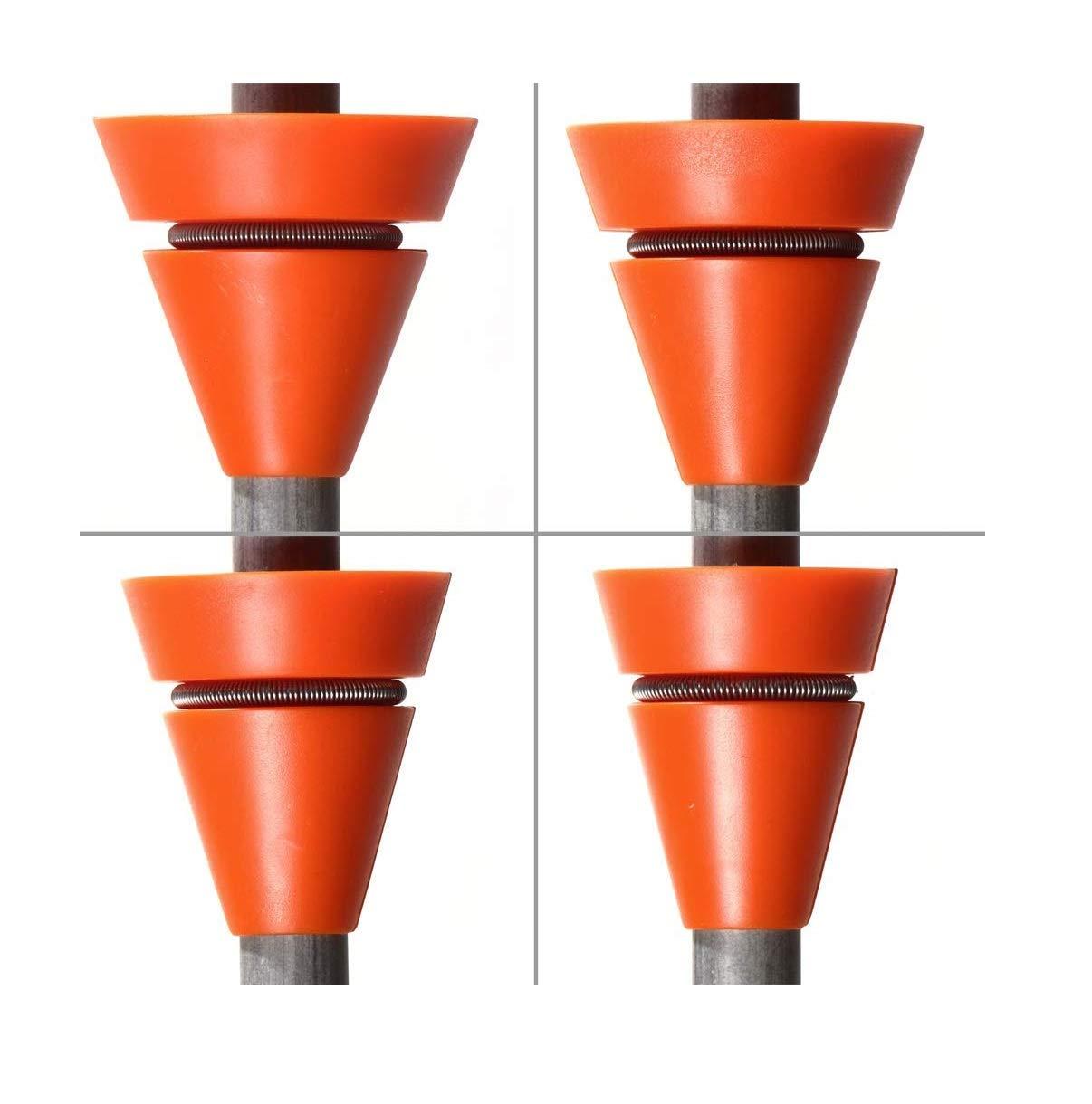 Wedgek Angle Guides 14°, 16°, 18°, 20° for Sharpening Knife on Honing Steel Ceramic or Diamond Rod - Orange