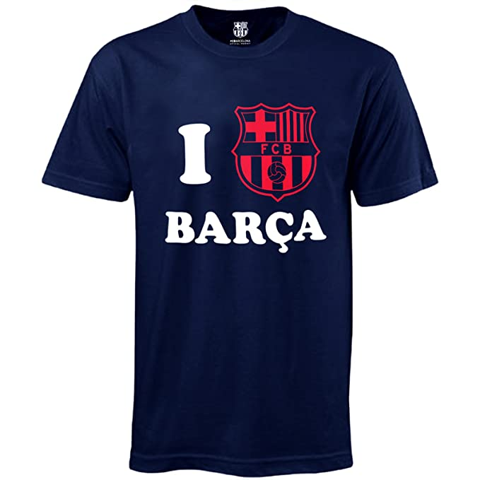 FC Barcelona - Camiseta oficial para hombre - I Love Barça - Small