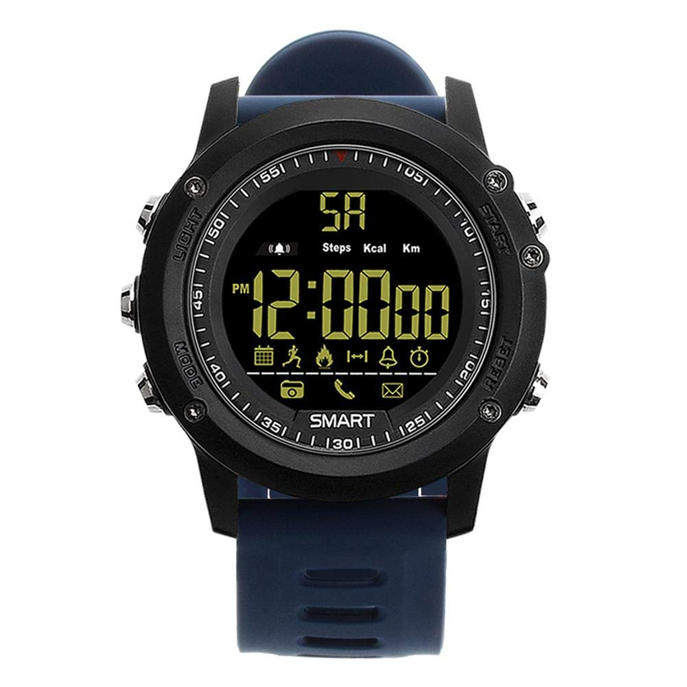 Alloet EX17 BT4.0 Outdoor Sports Smart Watch 50ATM Waterproof Wristwatch (Blue)