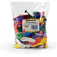 """Hygloss 60245 Birthday Party Latex Balloons Decorations, 5"""", Assorted (Pack of 144)"""