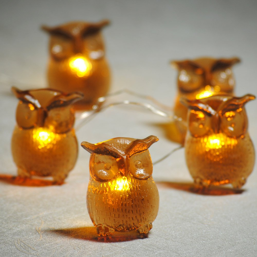 Impress Life LED String Lights, Big Owl 10Ft 30 LEDs Battery-Powered Festive Lights with Remote Control & Timer for Indoor Outdoor DIY Dorm Decor Xmas Tree Office School Birthday Wedding Party