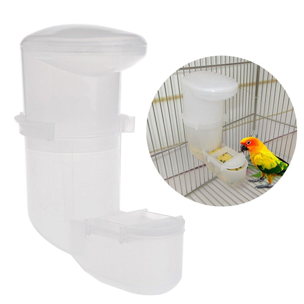 Cuigu Nourrisseur d'alimentation Automatique de Nourriture d'alimentation D'abreuvoir de Distributeur d'animal Familier de Perroquet sur la Cage