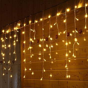 Amazon.com: Pratcgoods LED Window Curtain String Light ...