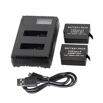 TOOGOO Dos baterias de Repuesto y Cargador de bateria LCD ...