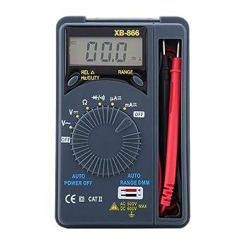 Pocket Digital Multimeter,Akozon XB-868 Auto Range Pocket Digital Handheld Multimeter AC/