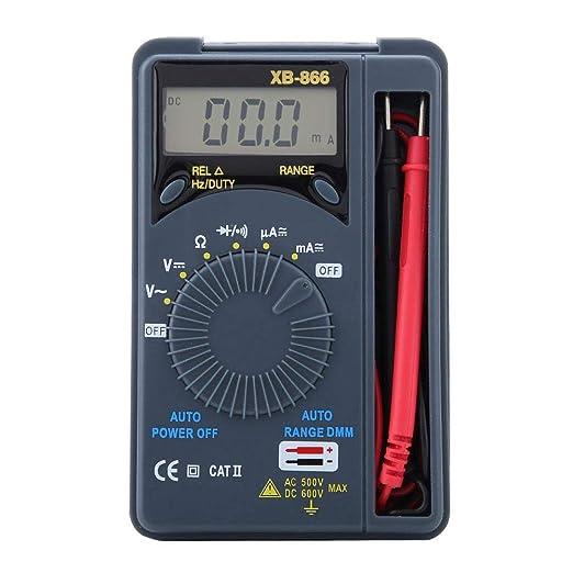 lindustria Capacit/à HoldPeak Mini Multimetro 2999 Conteggi Resistenza Diodo Strumento Tascabile per Test di Tensione // Corrente AC//DC Risoluzione dei Problemi Elettrici per la Casa Continuit/à