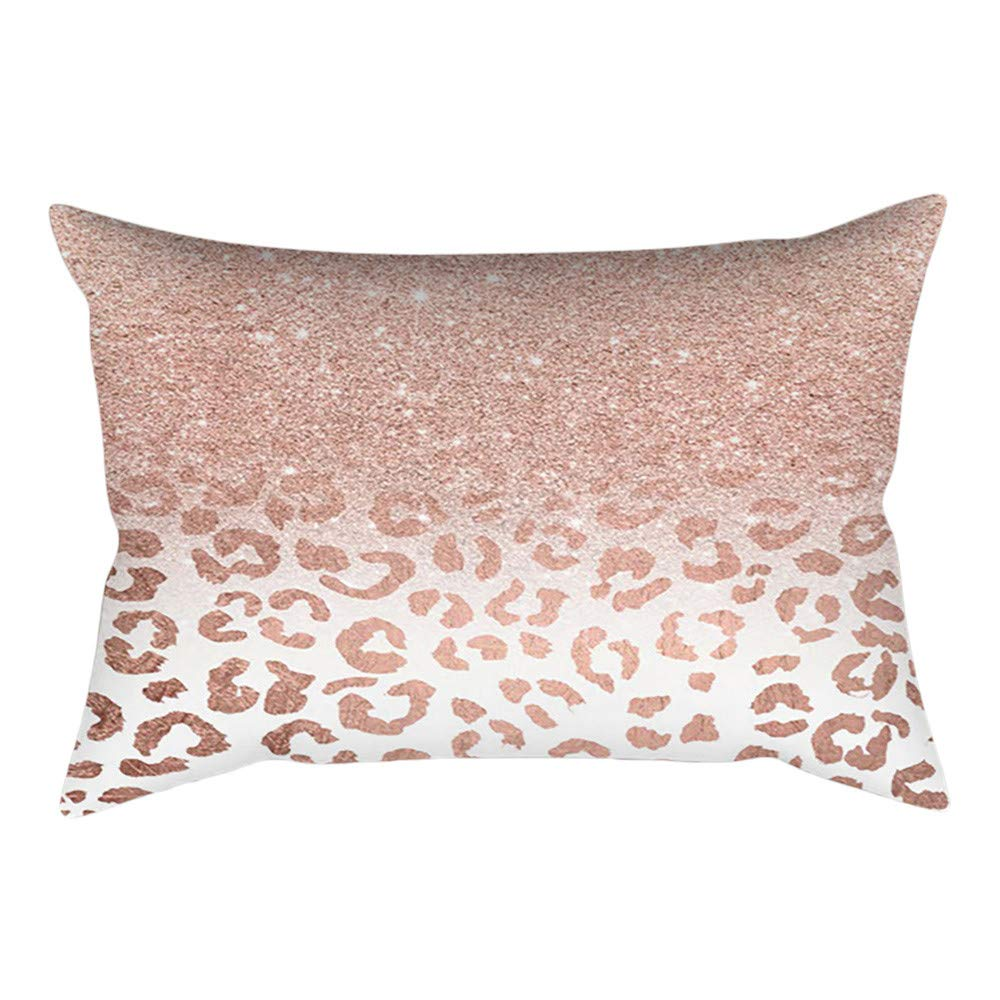 Amazon.com: DZT1968 Rose Gold Pink Cushion Cover Square ...