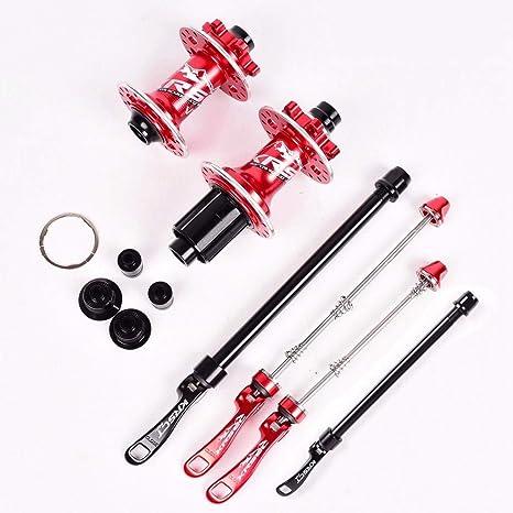 MZPWJD DH Buje De Bicicleta A Través del Eje QR MTB Bujes De Bicicleta 32H Freno De Disco Rodamiento Sellado NBK para Shimano 8-11velocidad (Color : Red): Amazon.es: Deportes y aire libre