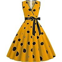 Vestido Rockabilly para mujer, de los años 50 y 60, manga corta, estilo vintage, vestido de fiesta con estampado de…