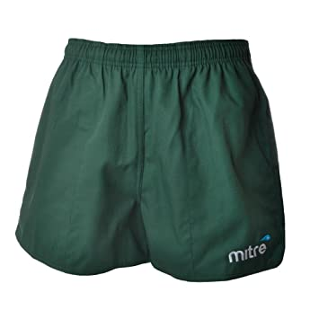 6d8cb00b6f935 Mitre Mens Cotton Drill Rugby Training Fitness Shorts - Green - 42: Amazon. co.uk: Sports & Outdoors