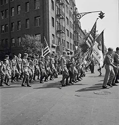 Anniversary Day parade of the Sunday school of the Church of the Good Shepherd Brooklyn New York 1944 Poster Print by Stocktrek Images 24 x 24