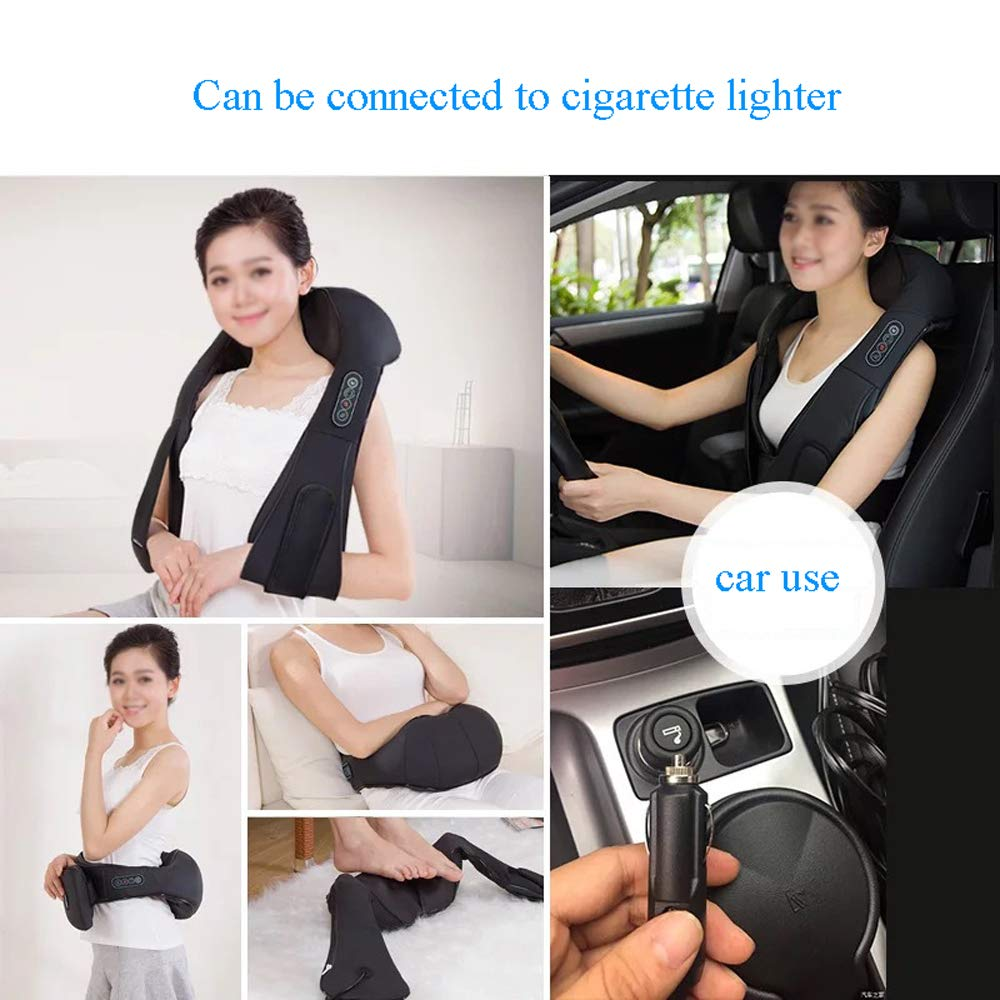 GAOQQ Shiatsu Back Neck and Shoulder Massager with Heat - Cervical Spine Kneading Multi-Function Massager for Office Home Car Use by GAOQQ (Image #3)