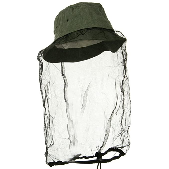 abc6ba32a38b4 Image Unavailable. Image not available for. Color  Olive Drab Boonie  Outdoors Hat with Mosquito Netting ...