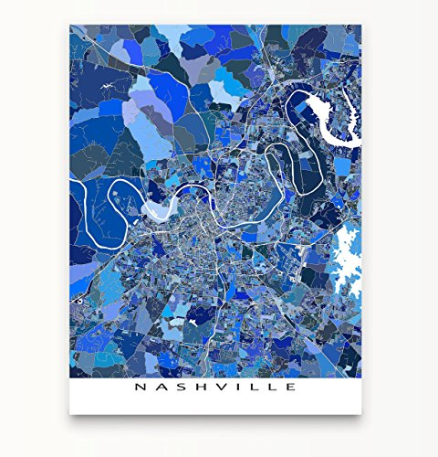 Nashville Map Print, Tennessee Usa, City Wall Art Poster