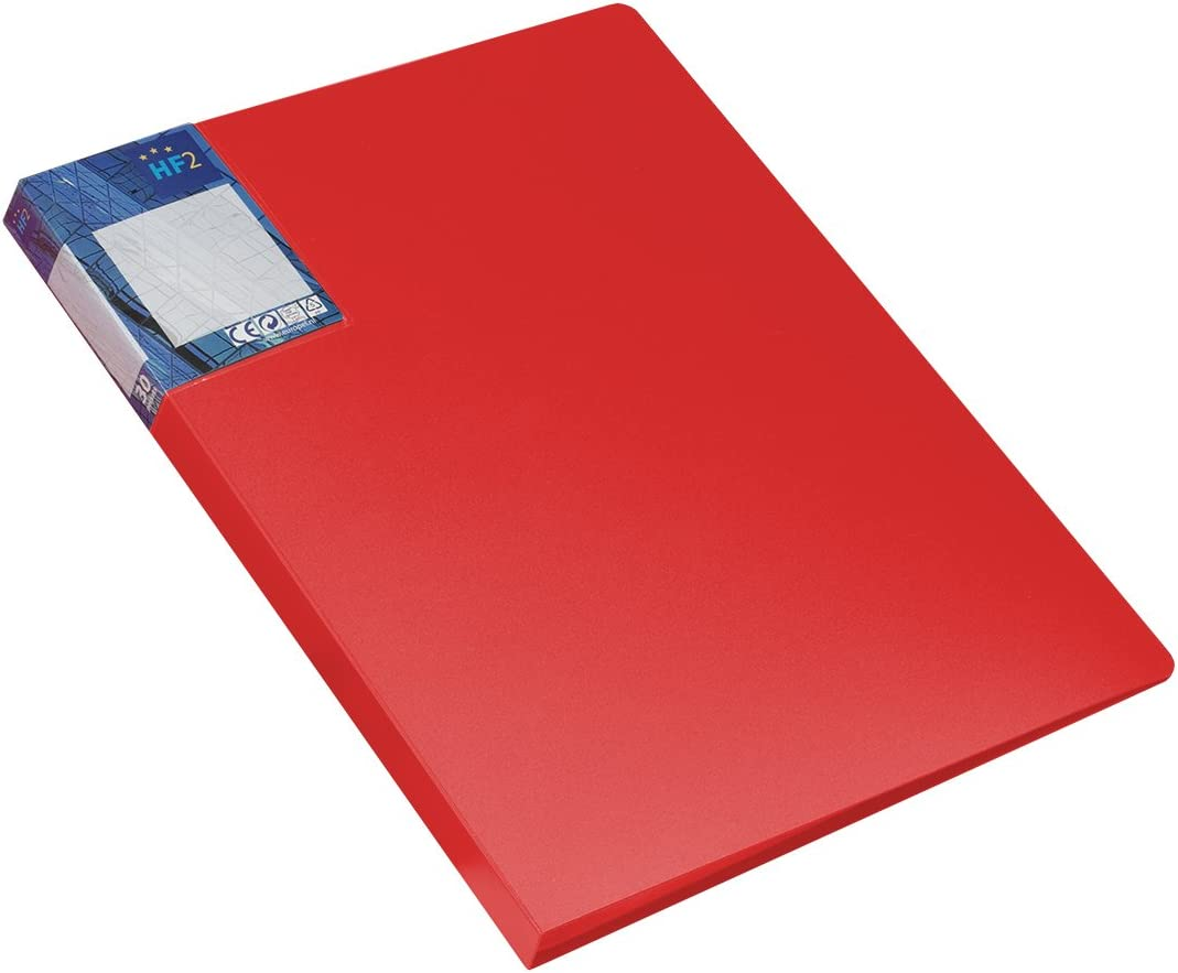 HF2 A4 Display Book Deluxe with 10 Pockets Red
