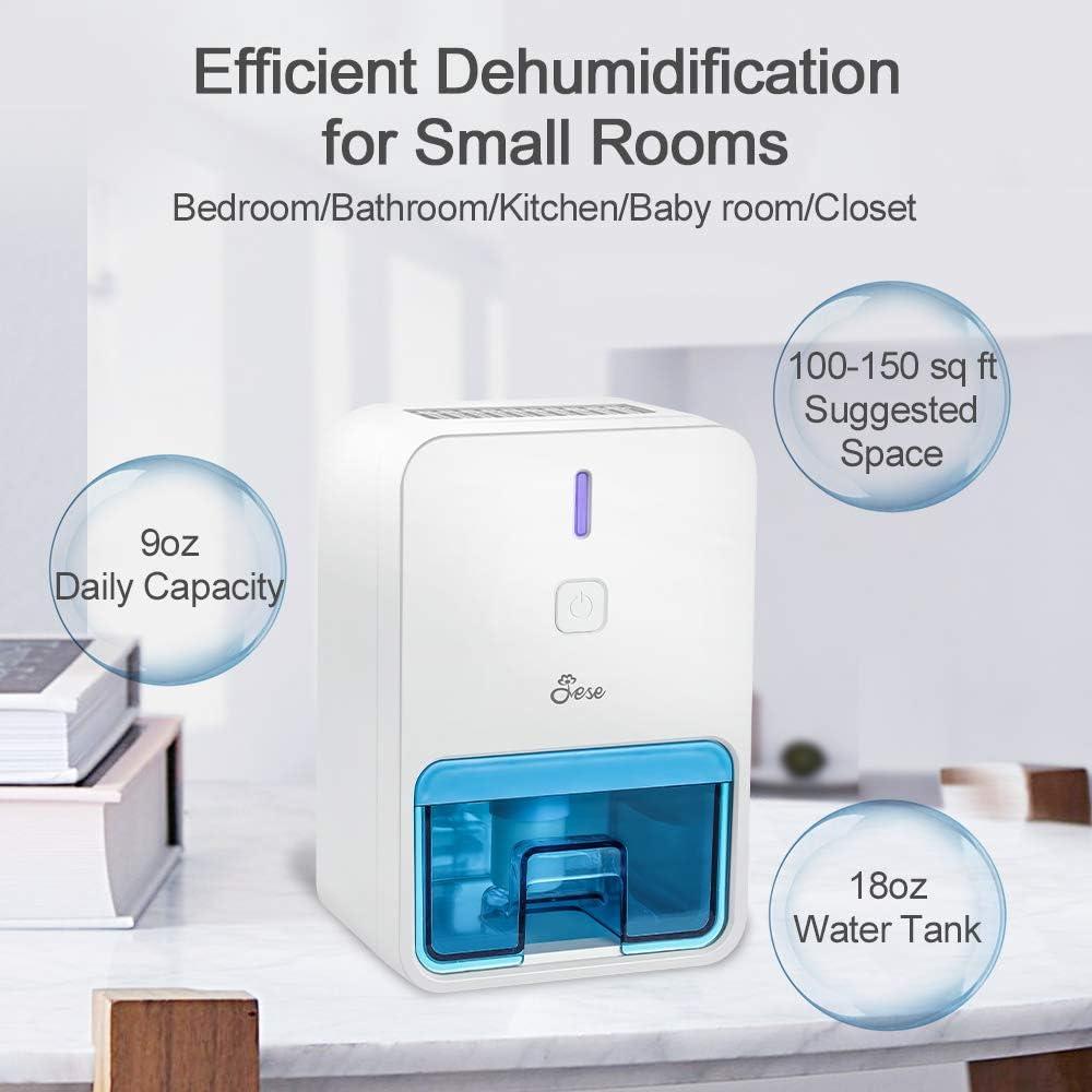 Baby Room Jese Mini Dehumidifier for Bathroom Portable Small Dehumidifier for 1800 Cubic Feet Small Room Kitchen Electric Home Dehumidifier for Bedroom Closet Purple Basement RV Trailer