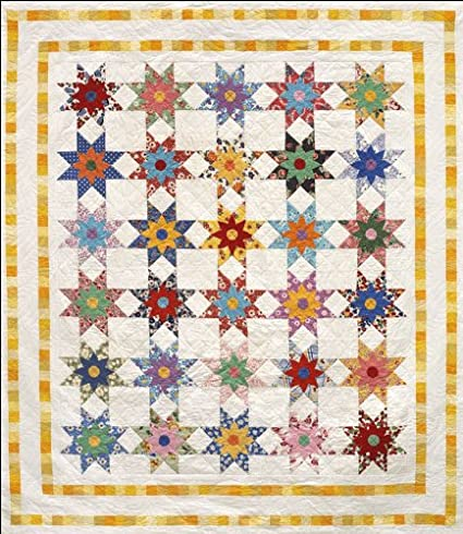 Amazon Com Star Flowers Quilt Pattern By Alex Anderson Arts