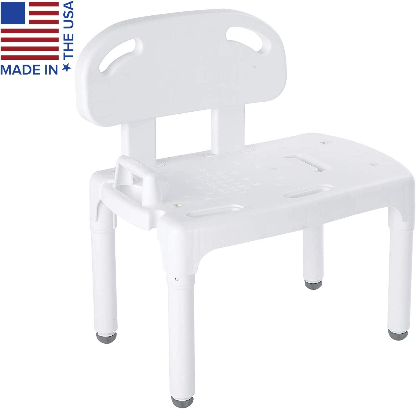Carex Health Brands Universal Tub Transfer Bench - Shower Bench and Bath Seat - Chair Converts to Right or Left Hand Entry 61dYo7DjxpLSL1500_