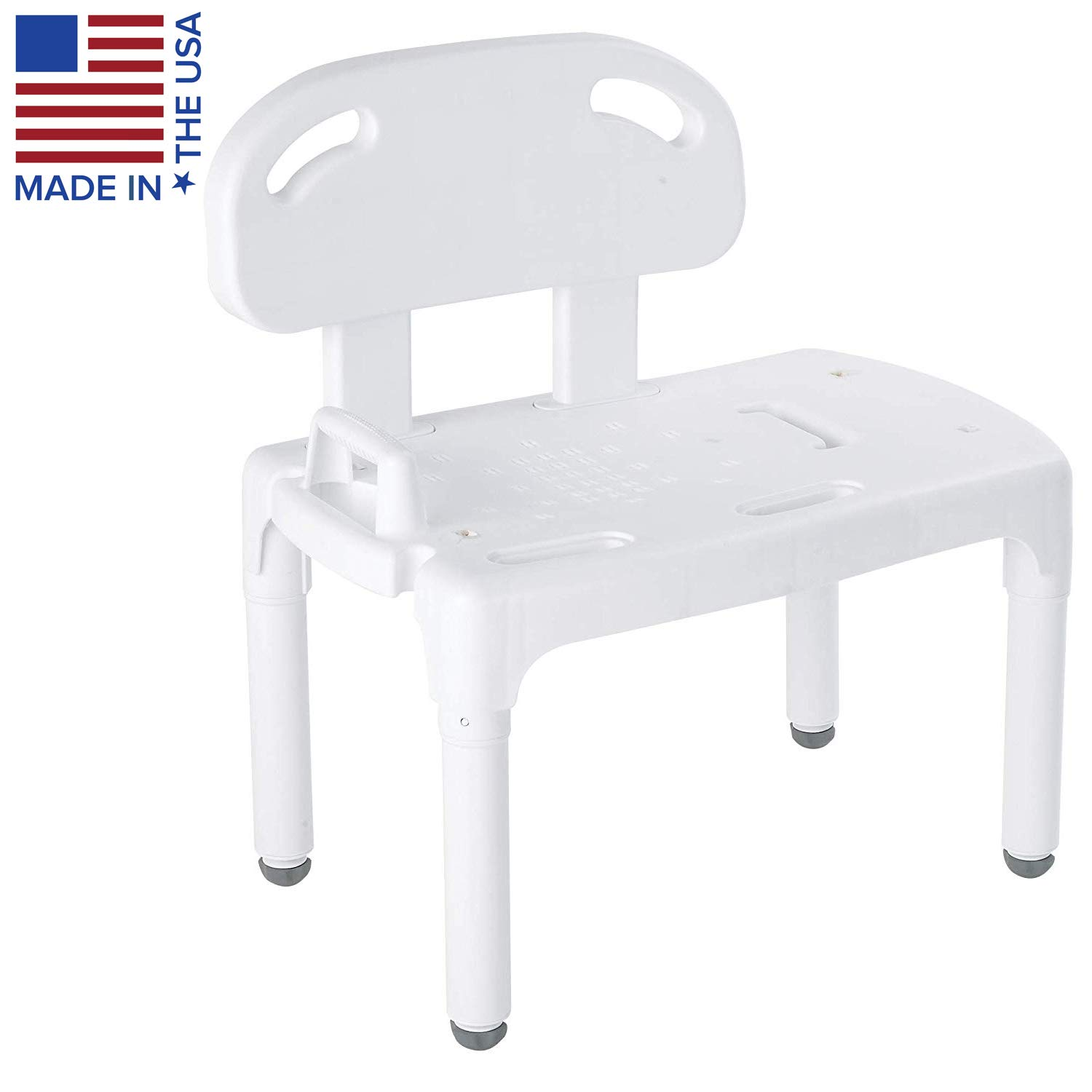 Carex Universal Tub Transfer Bench - Shower Bench and Bath Seat - Chair Converts to Right or Left Hand Entry by Carex Health Brands