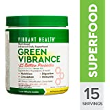 Vibrant Health - Green Vibrance, Plant-Based Daily Superfood + Probiotics and Digestive Enzymes, 15 servings (FFP)