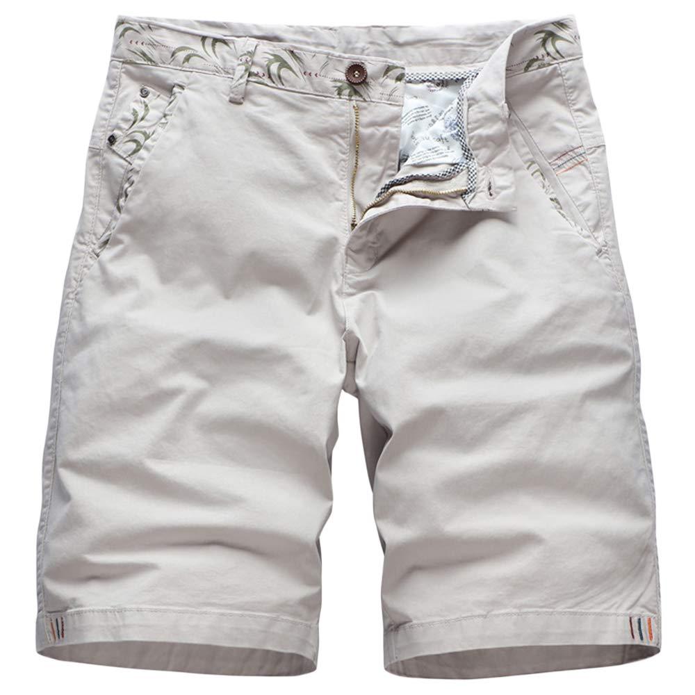 GBRALX Männer Arbeiten Cargo Combat Shorts lässig Reine Farbe Baumwolle Strand Shorts militärischen Stil leichte Outdoor Gym Hose