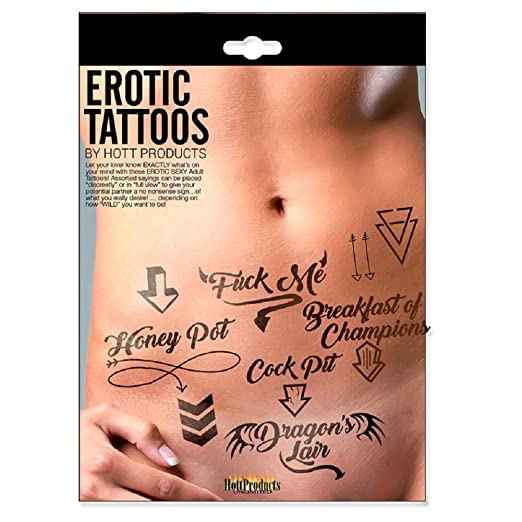 Amazon Com Adult Erotic Tattoos Assorted Pack Health Personal Care