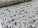 ダブルガーゼ 電球ネコ オフ |コットンこばやし|服地|Wガーゼ|生地|布地|の商品画像