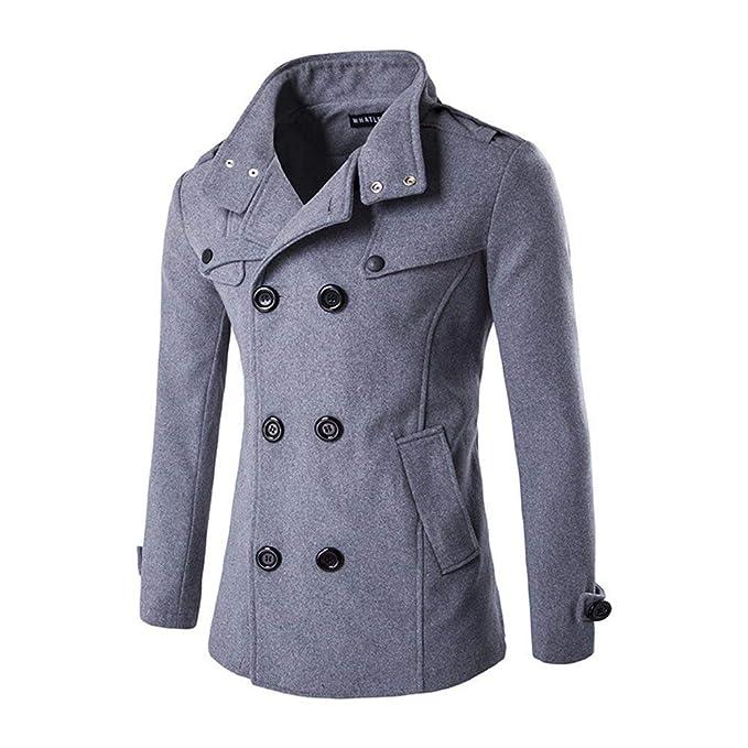 Manteau en Laine Personnalisé pour Hommes d hiver Manteau Double Épaisseur  Único avec Veste Croisée 8735bc28d71f