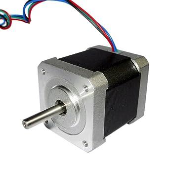 Motor paso a paso de 1,8 grados, 42 mm, 2 fases, híbrido, 12 V ...