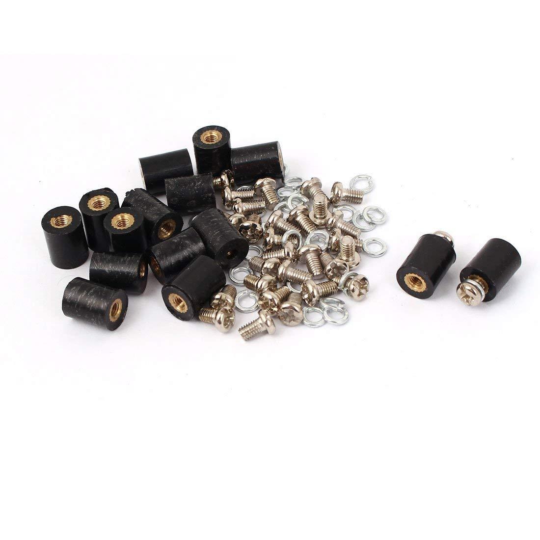 15 PC M3 Insert en laiton filetage femelle 8x10mm borne isol/ées Entretoise