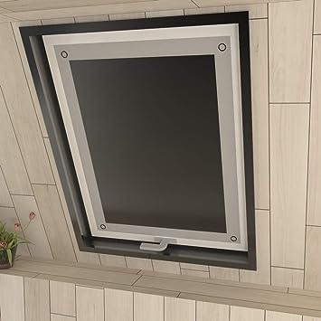am besten wählen zum halben Preis wie man bestellt Eurohome Sonnenschutz Dachfenster Rollo ohne Bohren Schwarz  Verdunkelungsrollo mit Saugnäpfen für Fenster Dachfenster Jalousien 48 x 93  cm