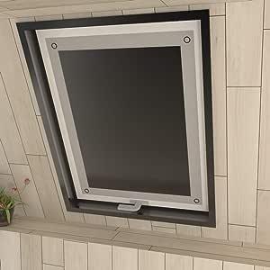 Eurohome - Estor para ventana de techo (sin agujeros, con ventosas, para ventanas de tejado), poliéster, Negro , 96x115cm (B x L) für S08/608: Amazon.es: Hogar