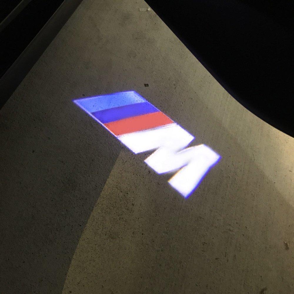 OPAYIXUNGS 2 PES Courtesy Lighting Door Shadow Lamps B MW (M) Logo Projector